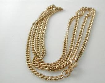 14 Karat yellow gold 26'' curb chain Necklace