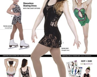 Jalie Tank Ice Skating Dress Sewing Pattern # 3240 in 22 Sizes Women & Girls
