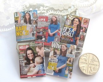 dollhouse royal kate baby number two magazines x 5 lakeland artist