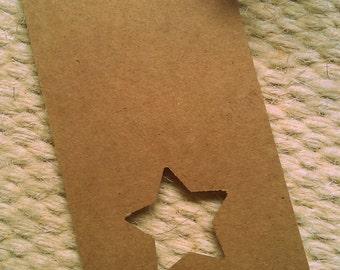 25 x die cut luggage gift tags - star or tree