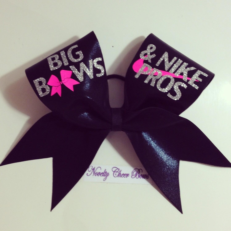 Black big bows cheer bow silver and neon pink by noveltycheerbows - Cute cheer bows ...