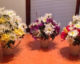 Floral Arrangements in a Mug