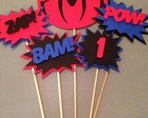 Spiderman Centerpiece, 5pc, Superhero party, Spiderman  Party, Spiderman  Birthday Party