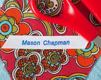 Iron On Fabric Camp Labels, Iron On Labels for School, Camp Labels For Kids, Iron On Clothing Labels, Kids Iron On Labels, Label Style 26