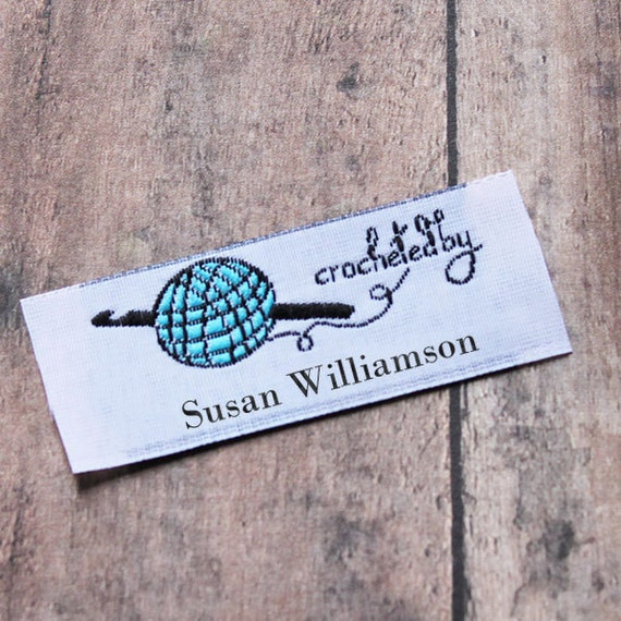 personalized labels for handmade items crochet by sew on personalized woven labels by 8012
