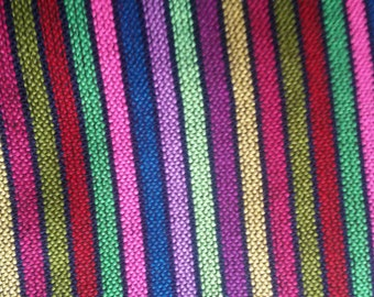 2 yards x .87 yard Mexican FABRIC with different  stripes (cambaya)