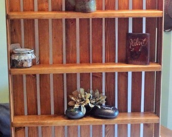 Wall Hanging Large Crate- Cherry color