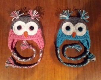 Crochet Owl Hat & Diaper Cover
