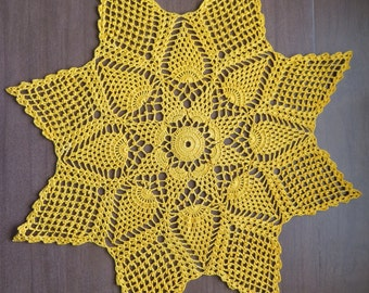 Pineapple Explosion Doily in Goldenrod Yellow