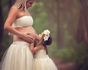 Michelle floor length tutu and bandeau set/  Maternity Gown / Maternity dress / Teen tutu