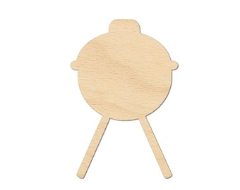 BBQ Barbecue Cutout Shapes Crafts, Gift Tags Jewelry display ornament Laser Cut Birch Wood Various Sizes