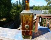 Lantern Light//////Vintage Amber Glass Musical Alcohol Lantern Decanter