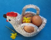 Chicken Egg Basket Bowl Easter Spring Amigurumi PDF Crochet Pattern