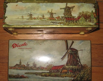 Droste Haarlem Holland Chocolate Windmill Tin