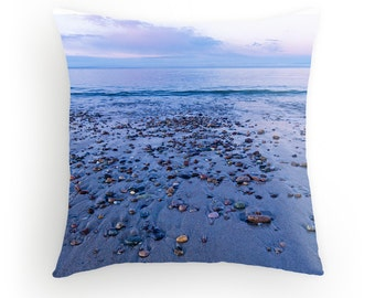Beach Sunset Throw Pillow Cape Cod Beach Sunset Sandy Neck Beach Dunes Coast Beach Rocks