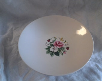 On Sale Edwin Knowles China Pink Rose and Flower Serving Bowl Vintage China