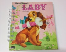 Vintage Disney Lady Repurposed Tell Tale Book Planner/Journal/Autograph Book