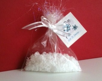 Snow Inspired Wedding Favors - Snow Soap, Holiday Party Favors, Winter Wedding Favors - Stocking Stuffer