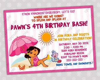 Dora the Explorer Birthday Party Invitation - Digital File