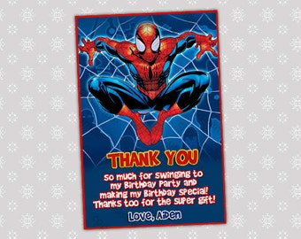 Spiderman Thank You card - Digital File