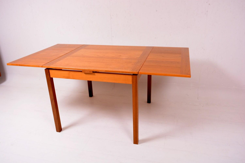 Mid Century Danish Modern Teak Dining Table Extendable Ansager