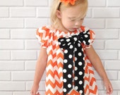 Girls Halloween Thanksgiving Dress Chevron Boutique Clothing By Lucky Lizzy's