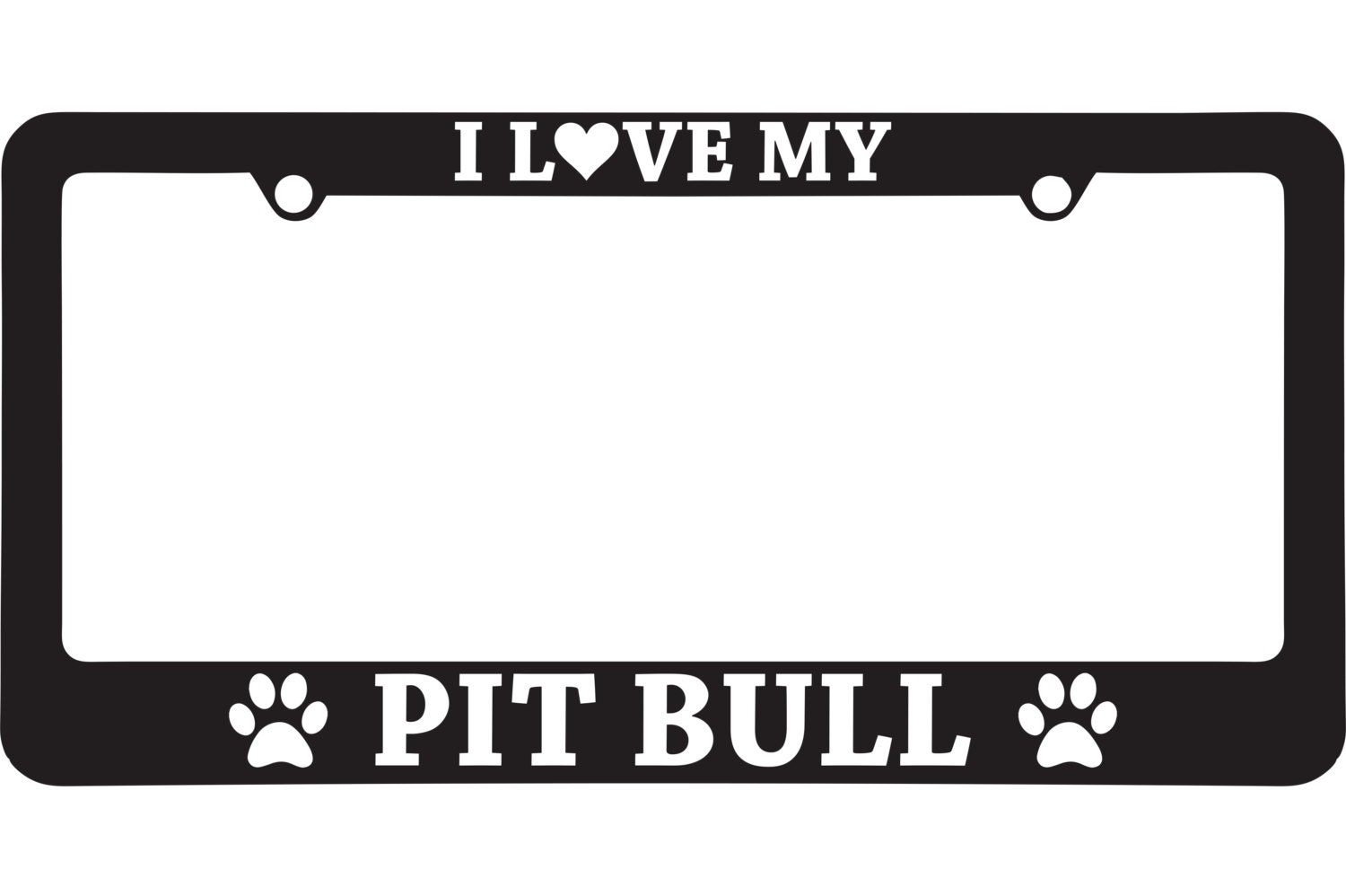 Sale I Love My Pit Bull License Plate Frame 10 Proceeds To