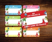 INSTANT DOWNLOAD Yo Gabba Gabba Birthday Inspired Printable name Tag Labels