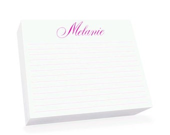 Large Lined Personalized Super Slab Note Pad