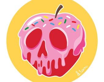 """6"""" x 6"""" Sprinkled Poisoned Apple Art Print"""