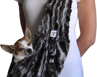 Faux Fur Dog Sling
