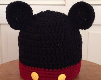 Crocheted Mickey Mouse Hat-Infant