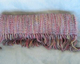 Highland Mist - Hand woven merino wool and mohair blend scarf