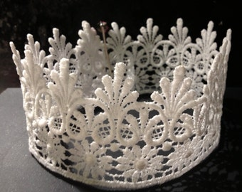 Lace Crown-Birthday crown-crowns-infant crown-princess crowns-photo prop