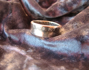 1971 through 1979, clad Quarter Dollar Coin Rings Great for birthdays or anniversaries. Made to order and 100% made in the USA