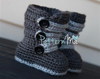 Crochet Baby Boot Pattern Strappy #1