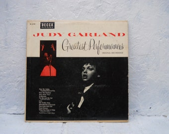 Judy Garland Vinyl LP. Greatest Performances Mid Century Original Recordings