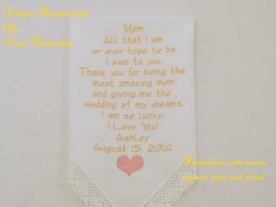 Embroidered gifts for mother of the bride by napaembroidery