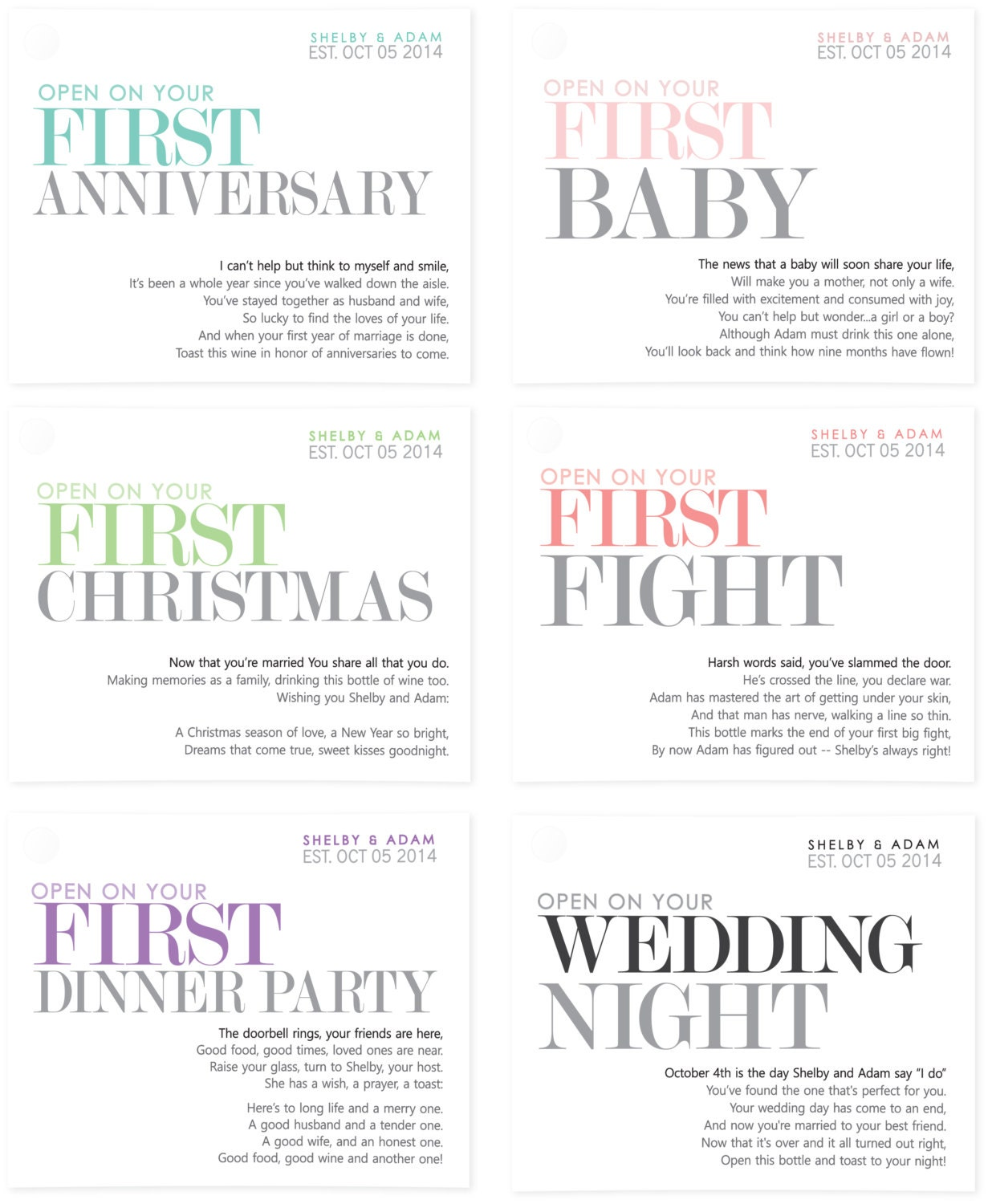 Wedding Milestone Wine Labels A Year Of Firsts Wine: PRINTABLE Wedding Wine Labels Milestone Stickers Unique