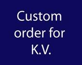 Custom Order for K.V. - Set of 6 knots mounted on Navy Blue background - Beach/Coastal Wall Art, Home Decor