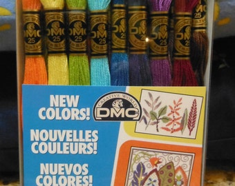 DMC - New Colors - BOX SET - 16 Skeins Embroidery Floss - Only available in set