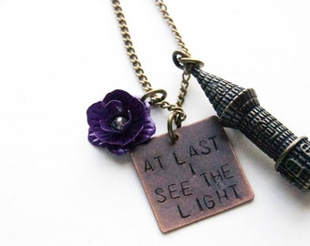 Disney's Tangled Inspired Necklace 'At last I see the light'