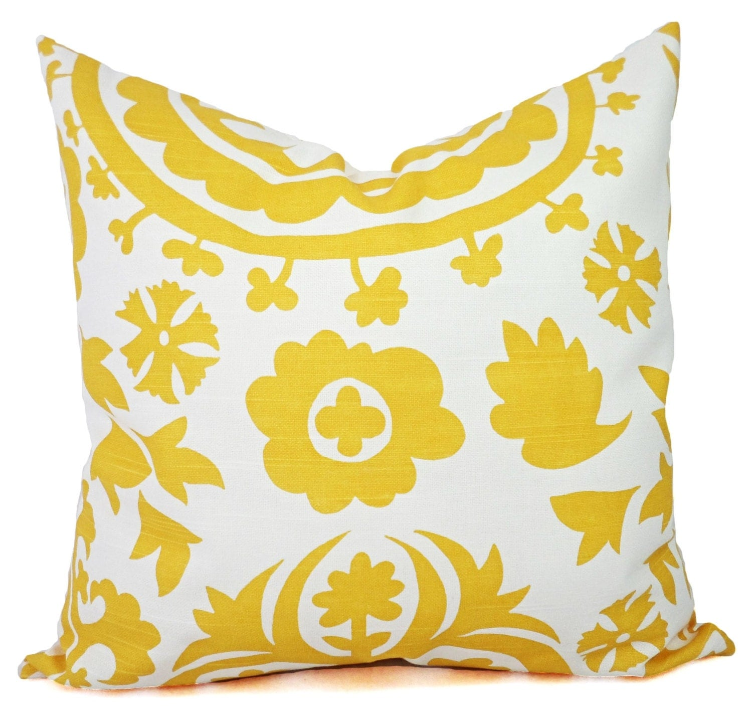 Two Yellow Throw Pillows Yellow Pillow Cover by CastawayCoveDecor