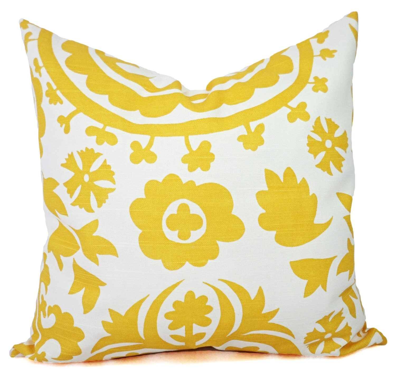 Throw Pillow Yellow : Two Yellow Throw Pillows Yellow Pillow Cover by CastawayCoveDecor