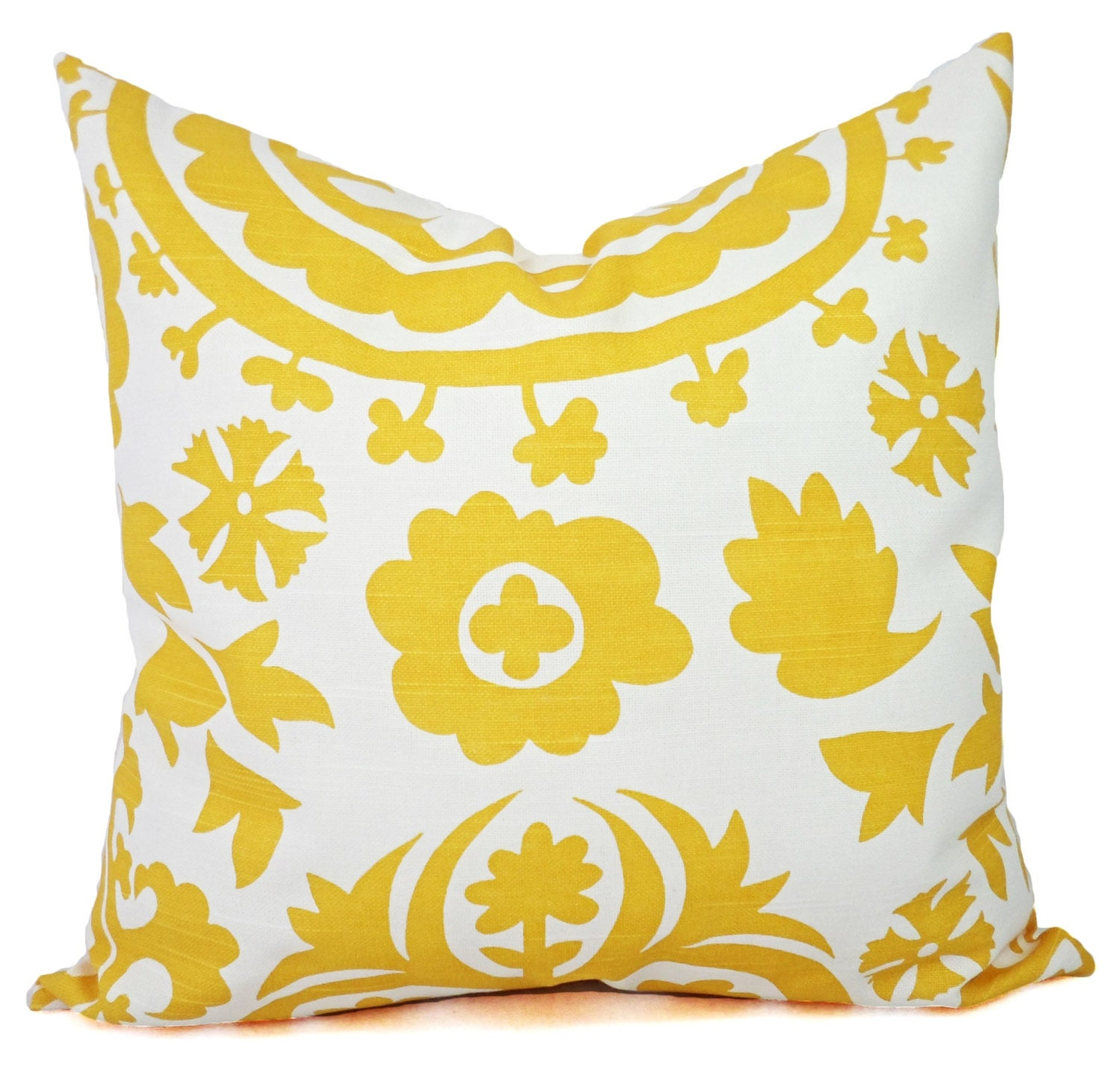 Decorative Pillow Yellow : Two Yellow Throw Pillows Yellow Pillow Cover by CastawayCoveDecor