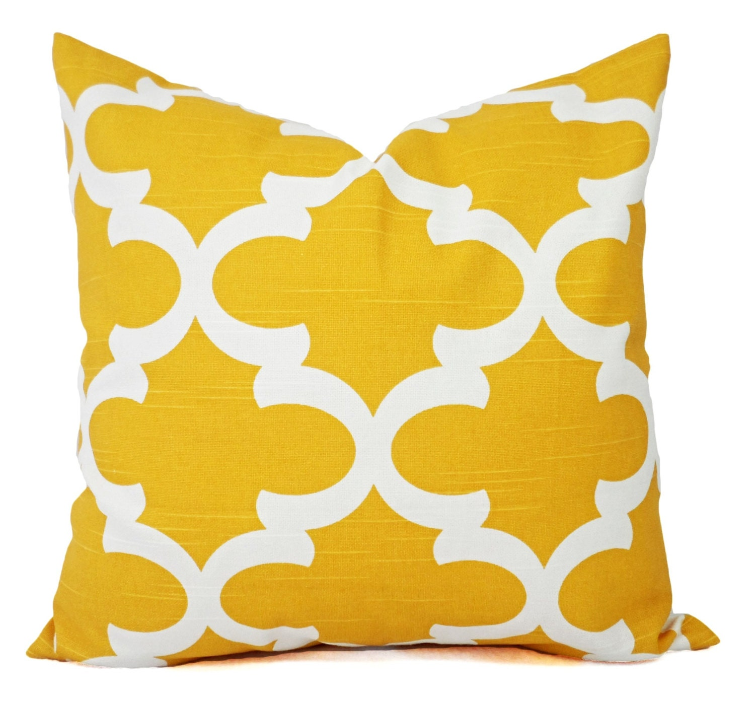 Throw Pillow Yellow : Yellow Decorative Pillows Two Yellow Throw Pillow Covers