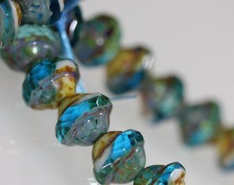 Ufo Beads (saturn) - Capri 8x10mm (1050) : 8 pc