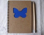 Butterfly Peek-a-boo - 5 x 7 Journal- Your choice Peek a boo color