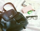 VNTG 90s Black Vegan Leather Nine West Backpack