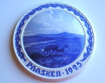 Danish Collectible Plate|Bing and Grondahl|B and G Plate|1925 Easter Plate|Paasken 1925|Made in Denmark|Art & Collectibles|Collectible Plate